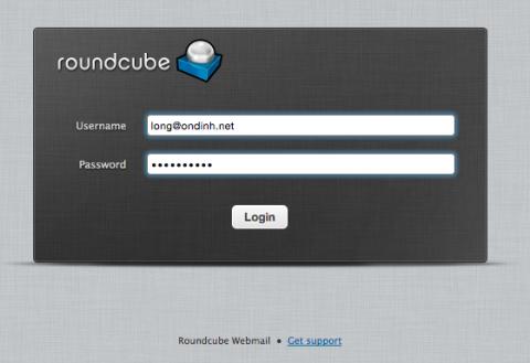 Roundcube webmail login