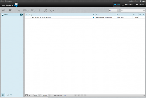 Roundcube webmail - Emails