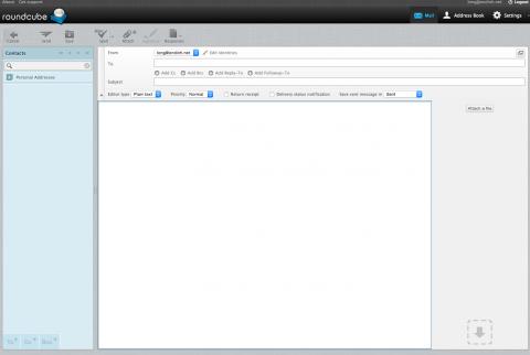 Roundcube webmail - Compose